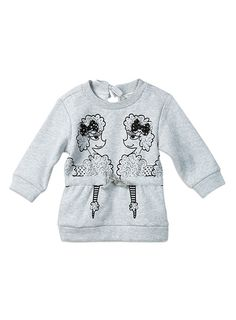 Poodle print sweat, great oversize fit - pairs great with leggings #pumpkinpatchkids #poodle