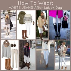 Don't pack those white jeans away! Find out how to How To Wear White Jeans After Labor Day.