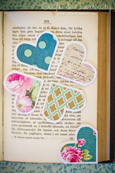 Heart Shaped Corner Bookmarks from Craft and Creativity. These are more girly than the Monster Corner Bookmarks, but I think they'd also make great classroom Valentine's Day gifts (for girls) with a sweet message written on the back. Or Monsters for boys.
