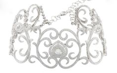 Tiara (diamonds, white gold). Converts to choker.