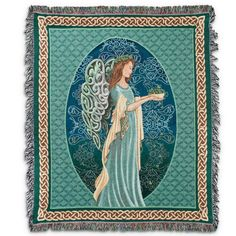 Irish Angel Tapestry Throw