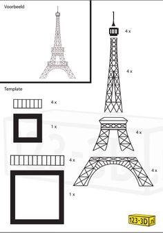 eiffel tower model template - colido 3d pen stencil eiffel 2480 3508 3d