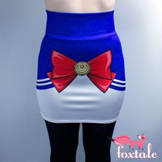 Sailor Moon Inspired High Waisted Mini Skirt