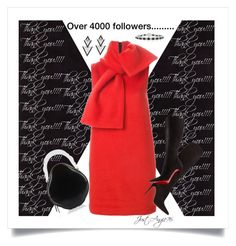"""""""Over 4000 followers..Thank you ☺☺☺"""" by justangie76 ❤ liked on Polyvore featuring Mark Broumand, Simone Rocha, MSGM, Christian Louboutin and Elise Dray"""