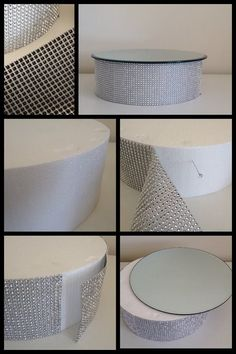 How to make easy and effective bling cake stand