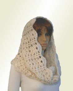 INFINITY Scarf Hood Cowl Knit Crochet #hooded #cowl by 2SistersHandmade on Etsy Stitch Patterns, Crochet Patterns, Crochet Ideas, Chunky Infinity Scarves, T Shirt And Jeans, Crochet Scarves, Handmade Shop, Crochet Lace, Baby