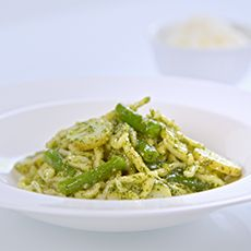 Trofie Pasta Liguria (Pasta with Pesto, Potatoes and Green Beans)