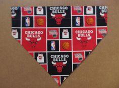Chicago Bulls Dog Bandana by SCCDogApparel on Etsy, $10.00