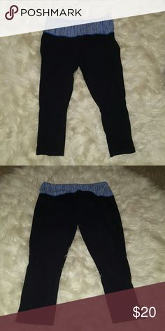 Reposhing..too small Lululemon crops! Good condition. lululemon athletica Pants Capris
