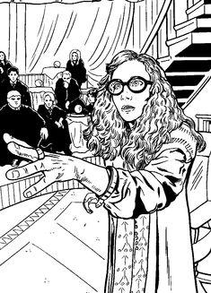 kleurplaat Kleurplaten Harry Potter en de Orde van de Feniks  Kids-n-Fun