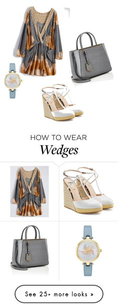 """""""raging"""" by dpqjdy on Polyvore featuring Kate Spade and Fendi"""