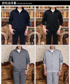 В пожилых мужчина движение одежда весенний и осенний отец наряд случайный бег разрабатывать движение одежда размер жир движение свитер - Таобао Украина