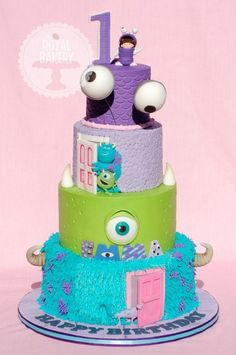Mike and Sully cake