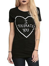 HOTTOPIC.COM - I Tolerate You Girls T-Shirt