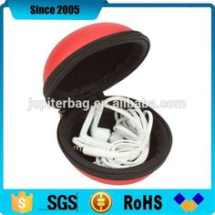 Check out this product on Alibaba.com App:red ball shape eva leather hard shockproof earphone case https://m.alibaba.com/iI7fYz