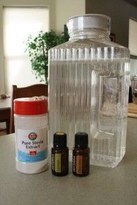 soda pop substitute: 3 drops of lemon, and 3 drops orange essential oil, sweetened with small amount of stevia.