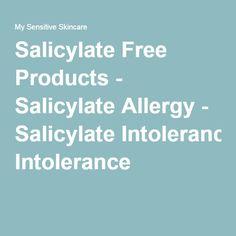 how to avoid salicylate sensitivity