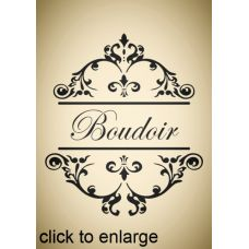 French style shabby chic Boudoir 2 stencil