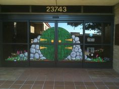 """This is great...a Hobbit door to welcome readers. We'd probably have to paint a """"Soddie"""" door on our entrance!"""