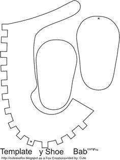 MOLDES- Zapatitos de papel, recuerdos para baby shower: