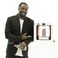 Coca-Cola, Will.i.am and 3D Systems Corp - 3D printer uses recycled plastic bottles as filament.