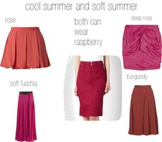 """cool and soft summer reds"" by expressingyourtruth on Polyvore"