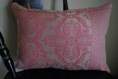"SALE  --  50% OFF  Fuschia And Linen Colored Decorative Pillow Cover Size 12x16"" 392"
