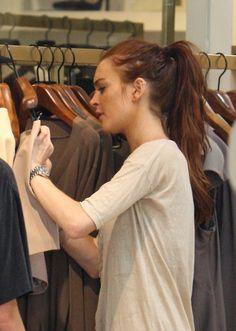 Lindsay Lohan circa red hair years