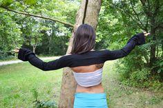 FITTED BOLERO SHRUG Arm Warmers Sleeves Boho Hippie Bell Sleeve Shrug Sleeves Extra Long Arm Warmers Shrug Fitted Shrug Dance Yoga Bikram