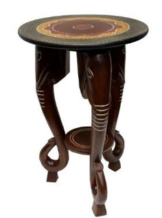 love for your out of africa bedside tablesyour african lady lamp on it table african table elephant accent table ghana furniture decor african style furniture
