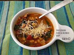 Tina's Italian Style Soup with Sausage and White Beans