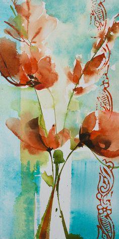 Малый момент № 335 - Картина, 20x10 см © 2015 Вероник Piaser-Ближний - Живопись