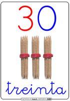 Completamos todas las series de las decenas hasta el 100. Las he puesto en orden ascedente, así que desde el 50 en adelante las tenéis disponibles al final del artículo. Números para decorar la clase mientras aprenden la numeración, ilustrados con palillos formando unidades y decenas, coloreando las unidades de …