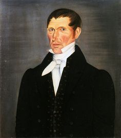Sheldon Peck  Portrait of a gentleman, possibly a self portrait of the artist  Vermont, circa 1827  Private collection