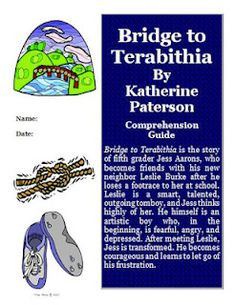 Bridget to Terabithia FREE Reading Comprehension Activity Guide