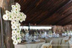 White rose cross #wedding #decor Grace Studios