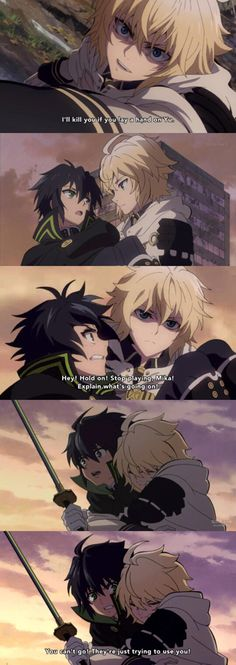 Owari no Seraph This anime is so yaoi, I don't care. It is. Poor Shinoa though. <<<<<< r u serious...