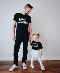 Daddy of a princess Fathers day gift Daddy and me fathers day gift from daughter Daughter of a king shirt Daddy gift Price per item First Fathers Day Gifts, Unique Mothers Day Gifts, Fathers Day Shirts, Daddy Gifts, Dad To Be Shirts, Baby Shirts, Father Daughter Shirts, Dad Daughter, Mother Daughters