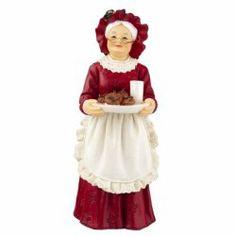 Out of the Ordinary Mrs. Claus, standing - Mrs Santa is holding her husband's favorite treat, cookies and milk. Hand painted resin doll is non-posable and has no removable pieces. 1 x Scale: Dollhouse Toys, Dollhouse Miniatures, Doll House People, Santa Doll, Christmas Accessories, Mrs Claus, Dollhouse Accessories, Doll Stands, Old Fashioned Christmas