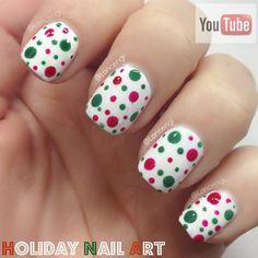 Cute and easy Christmas Nail Art -  - The ultimate holiday nail art Guide #2 + Video Tutorial - Dotticure