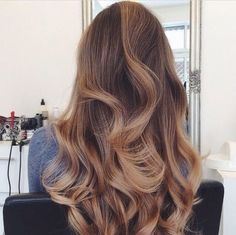caramel ombre hair color
