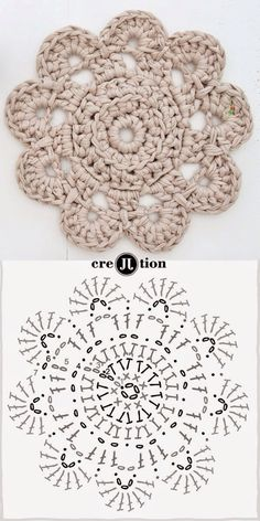 Aprendendo a ler os gráficos pattern crochet doily. This looks like a good practice pattern for learning how to read this type of pattern.With this new free pattern crochet doily, create the perfect decorative item, to keep or to Mandalas en Crochet Circles, Crochet Motifs, Crochet Diagram, Crochet Chart, Crochet Squares, Diy Crochet, Crochet Doilies, Crochet Flowers, Mandala Crochet