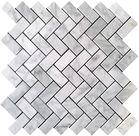 "$11.75SF Carrara (Carrera) Bianco Polished 2"" Hexagon Mosaic Tile"