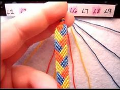 ► Friendship Bracelet Tutorial - Beginner - The Braided Stitch - YouTube