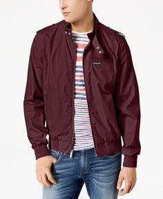 Member's Only Men's Iconic Racer Lightweight Jacket - Red S Mens Lightweight Jacket, Members Only Jacket, Jackets Online, Trendy Plus Size, Casual Looks, Street Wear, Bomber Jacket, Mens Fashion, Shirts