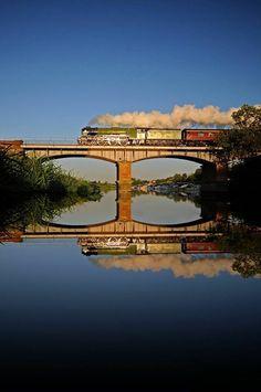 Crossing a bridge. :D #beautiful #train