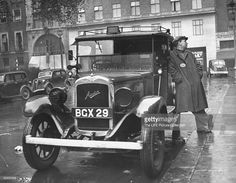 Austin 12/4 cab LL by Strachan of Acton during WW2. Note the half windscreen.