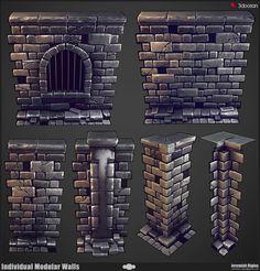 Modular Dungeon Wall Breakdown by JeremiahBigley on DeviantArt
