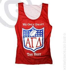 Alpha Gamma Delta The Best Red Jersey-cute dads day idea. OMGosh!!!! why didn't I get this while I was at Western