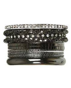 black and silver, diamonds bracelet